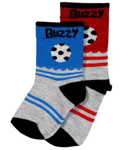 Buzzy Stripes And Football Print Socks - Pack Of Two