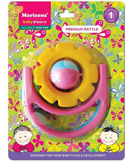 Morisons Baby Dreams Premium Rattle - Flower