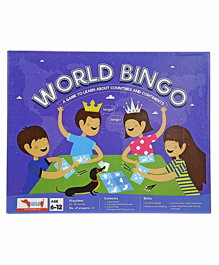 Cocomoco Kids World Bingo Game