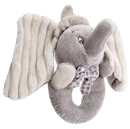 Disney Jumbo Ring Rattle Grey and Cream