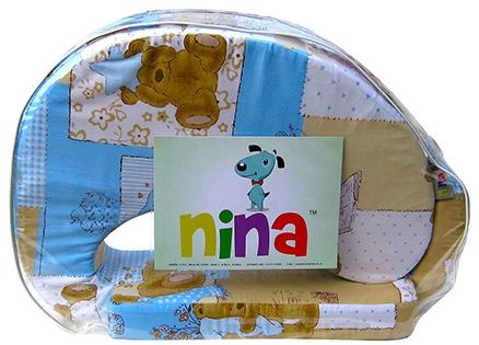 Nina Feeding Pillow Teddy Print - Blue