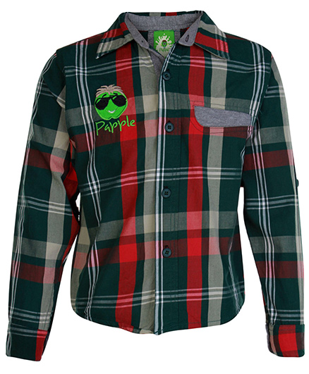Papple Checks Full Sleeves Shirt - Green