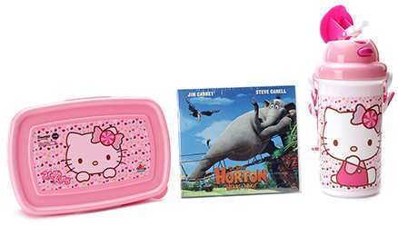 Hello Kitty Lunch Box Kit With Free Movie CD - Pink