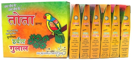 Tota Herbal Gulal Gift Pack 50 gm - Pack of 6 Assorted Colors