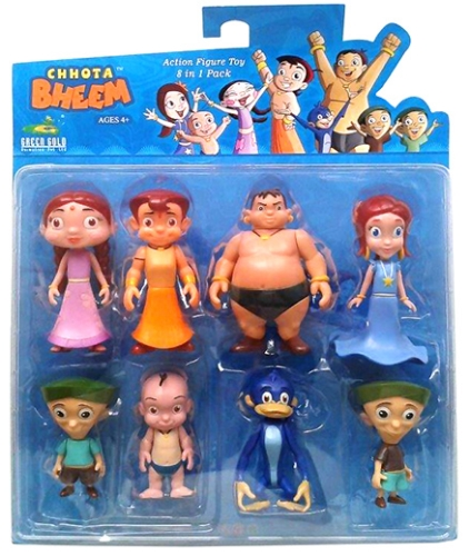 Chhota Bheem Action Figure Toy 8 In 1 Pack