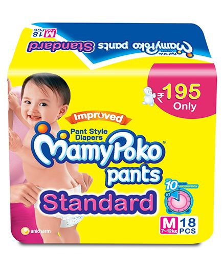 Mamy Poko Pants Standard Pant Style Diapers Medium - 18 Pieces