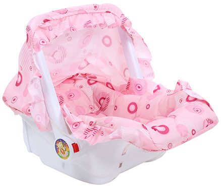 Fab N Funky Baby Carry Cot Pink- Upto 6 kg