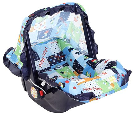Mee Mee 3 in 1 Carry Cot Multiple Print Light Blue - Upto 6 kg