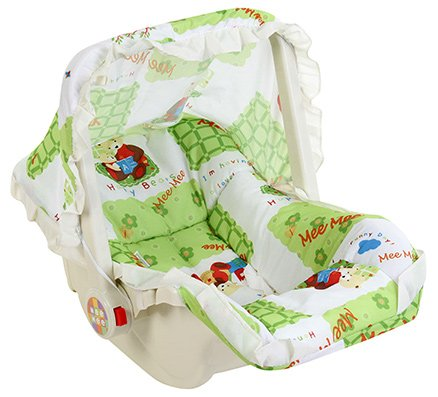 Mee Mee 3 in 1 Carry Cot Multiple Print Green - Upto 6 kg