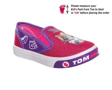 Tom & Jerry – Canvas Slip-on Fuschia