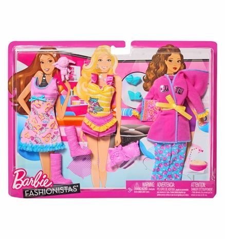 Barbie Fashionistas  -  Slumber Party 3 Years +, The Ultimate Fashion Fun For Barbie Doll ...