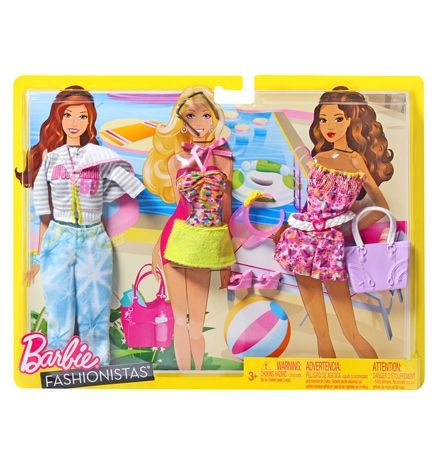 Barbie Fashionistas  -  My Fab Life Fashions  -  Beach 3 Years +, The Ultimate Fashion Fun For Barbie Doll ...