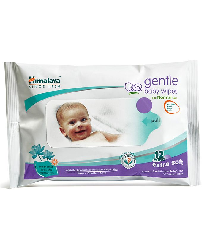 Himalaya Herbal Gentle Baby Wipes 12 Pieces