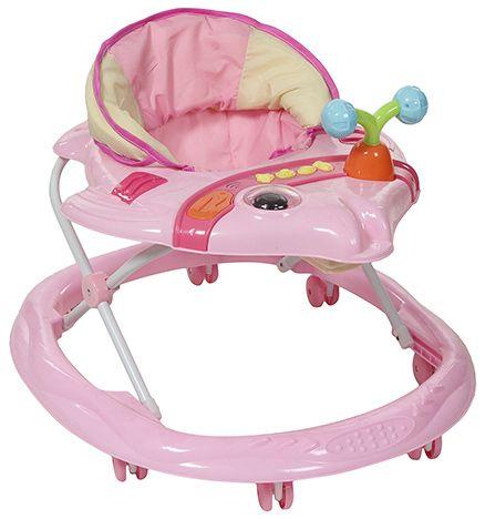 Fab N Funky Musical Baby Walker Fish Shape - Pink