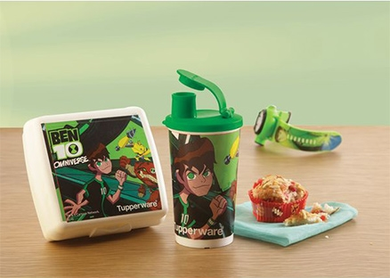 Tupperware Lunch Box - Ben 10 Lunch set