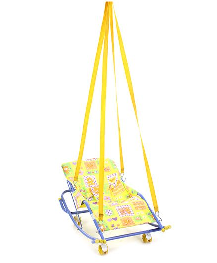 Mothertouch Swing Cum Rocker Teddy And Flower Print