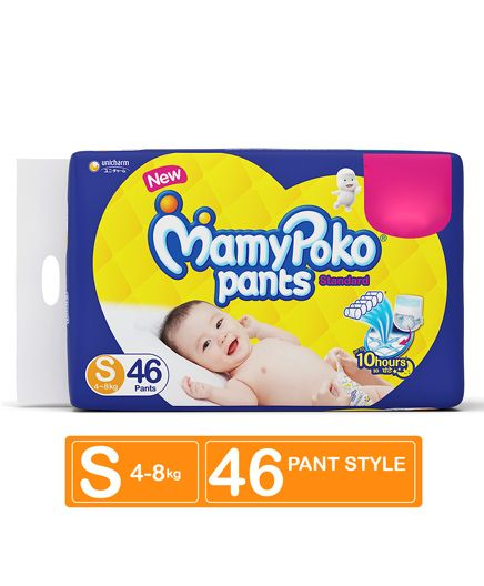 Mamy Poko Standard Pant Style Diapers, S 46 Pieces