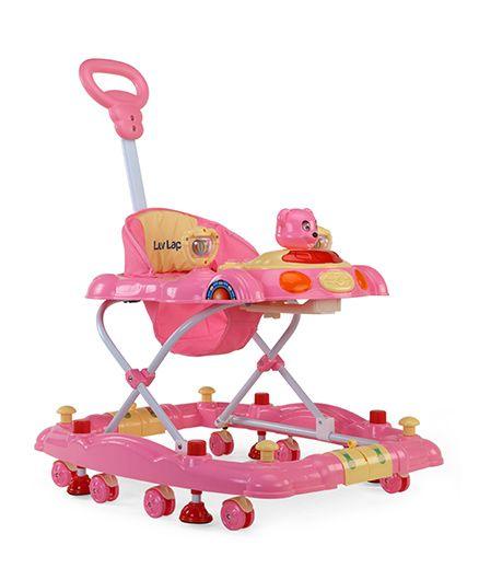 Luv Lap Comfy Musical Baby Walker Cum Rocker - Pink