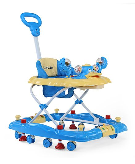 Luv Lap Muscial Baby Walker Cum Rocker Comfy - Blue