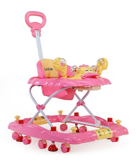 Luv Lap Muscial Baby Walker Cum Rocker Comfy - Pink
