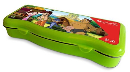 Chhota Bheem Plastic Pencil Box - Green