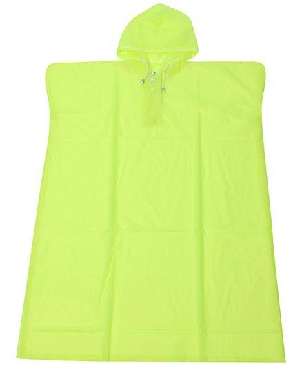 Babyhug Poncho Style Raincoat With Hood - Green