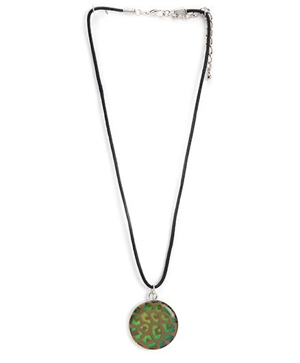 Creation Wildrepublic Necklace With Leopard Print - Green - Free Size