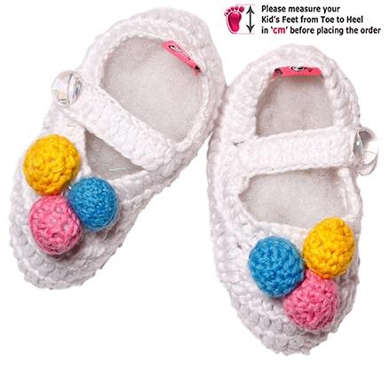 Cotton Crochet Baby Shoes Pattern : Buy Buzzy Cotton Booties White - Crochet Pattern - Best ...