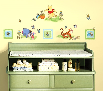 RoomMates Winnie The Pooh Toddler Sticker - 41 Wall Decals