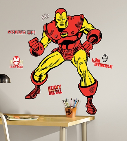 RoomMates Ironman Classic Giant Decals - 23 Decals