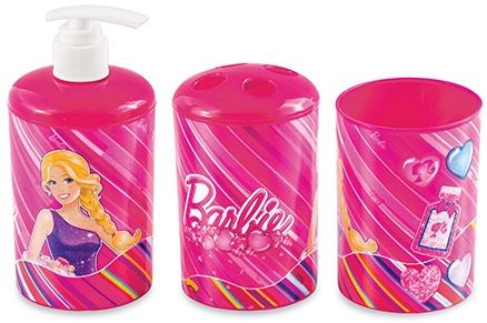 Barbie 3D Bathroom Set - 3 Pieces