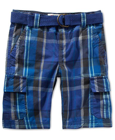 LEVIS Huntington Cargo Shorts Checkered Blue