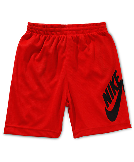 Nike Sunday Mesh Shorts with Nike Print - Red