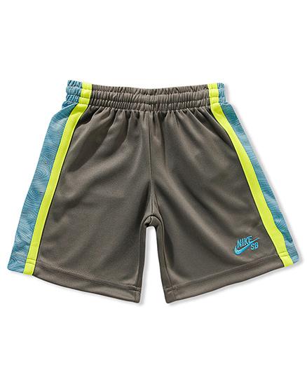 Nike Woodgrain Side Panel Tricot Shorts - Grey