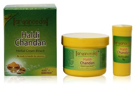 Aryanveda Haldi Chandan Herbal Cream Bleach