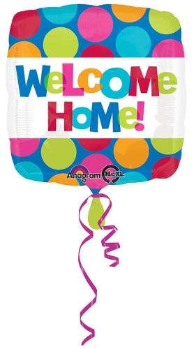Wanna Party Welcome Home Balloon Square Shape - Multi Color