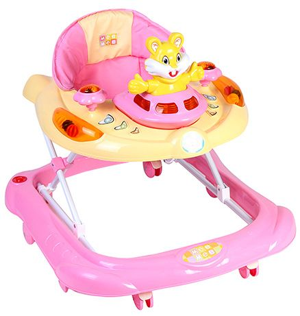 Mee Mee Musical Baby Walker With Play Tray - Pink