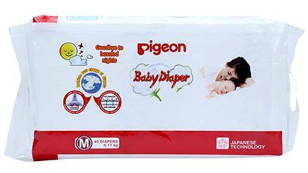 Pigeon Baby Diaper Medium - 40 Pieces