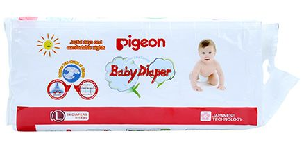 Pigeon Baby Diaper Large - 34 Pieces