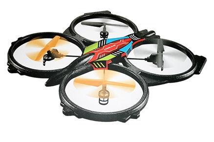 Adraxx Extra Large Six Axis Stabilizer Quadcopter Drone With Remote - 78 X 10 X 63 Cm