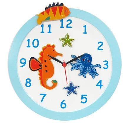 Kidoz Fish Economy Clock - Blue And White