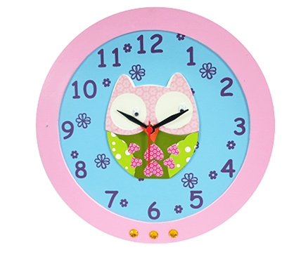 Kidoz Owl Economy Clock - Blue And Pink