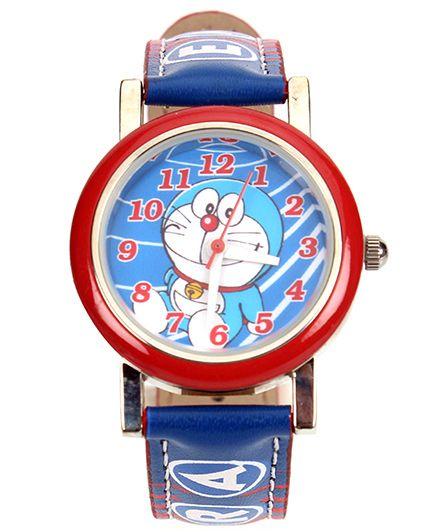Doraemon Icon Analog Watch With Print Blue - Length 21.5 cm
