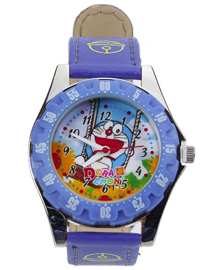 Doraemon Blue Analog Watch Blue With Print - Length 21.5  cm