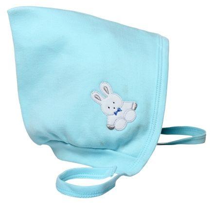 Child World Small Baby Cap Teddy Print - Aqua Blue