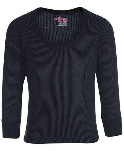 Warm Hug Thermal Vest Full Sleeves - Black