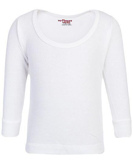 Warm Hug Thermal Vest Full Sleeves - White