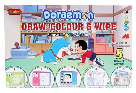 Doraemon DIY Draw Color And Wipe Kit