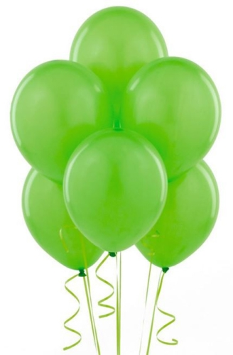 Wanna Party Green Latex Balloon - 20 Pieces