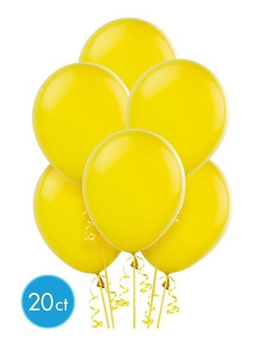 Wanna Party Yellow Latex Balloon - 20 Pieces